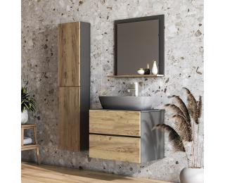 Kúpeľňa Baleta 60 - antracit / craft zlatý