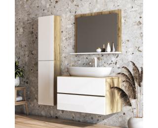 Kúpeľňa Baleta 80 - craft zlatý / biely lesk