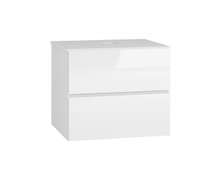 Kúpeľňová skrinka pod umývadlo Baleta S60 - alaska / biely lesk