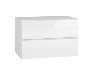 Kúpeľňová skrinka pod umývadlo Baleta S80 - alaska / biely lesk