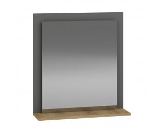 Zrkadlo na stenu Baleta Z60 - antracit / craft zlatý