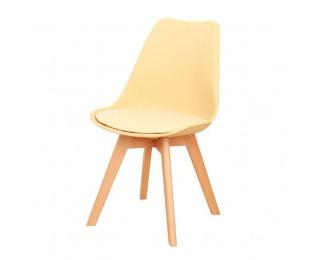 Jedálenská stolička Bali New - cappuccino / vanilková / buk