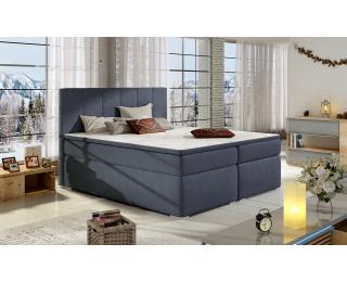 Čalúnená manželská posteľ s úložným priestorom Barmo 160 - modrá