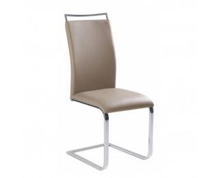 Jedálenská stolička Barna New - svetlohnedá / chróm