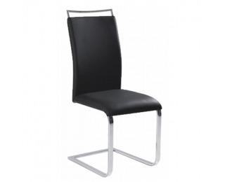Jedálenská stolička Barna New - čierna / chróm