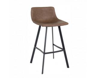 Barová stolička Falun - tmavohnedá / čierna