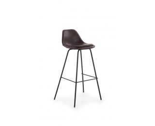 Barová stolička H-90 - tmavohnedá / čierna