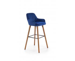 Barová stolička H-93 - granátová / orech