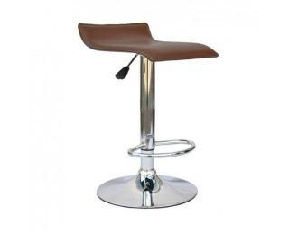Barová stolička Laria New - hnedá / chróm