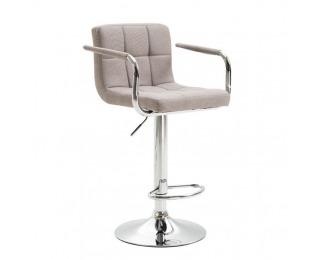 Barová stolička Leora 2 New - sivohnedá taupe / chróm