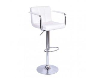 Barová stolička Leora New - biela / chróm