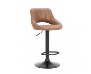 Barová stolička Lorasa - hnedá / čierna
