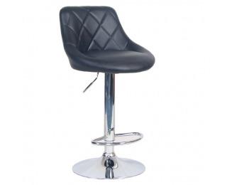 Barová stolička Marid - čierna / chróm
