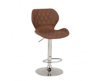 Barová stolička Sofala - hnedá / chróm