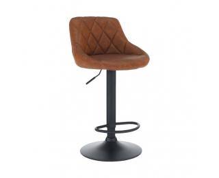 Barová stolička Terkan - koňaková / čierna