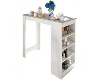 Barový stôl Austen - biela / betón