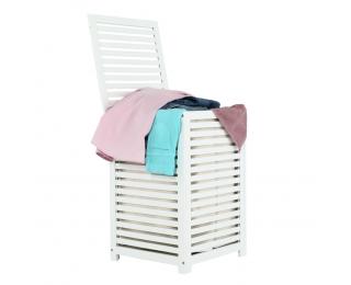 Kôš na prádlo Basket - bambus / biela / béžová