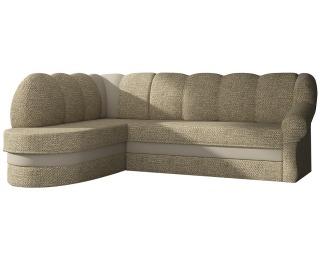 Rohová sedačka s rozkladom a úložným priestorom Belluno L - cappuccino / béžová