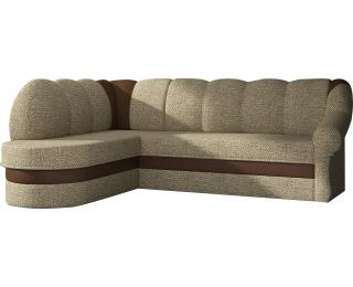 Rohová sedačka s rozkladom a úložným priestorom Belluno L - cappuccino / hnedá