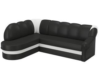 Rohová sedačka s rozkladom a úložným priestorom Belluno L - čierna (Soft 11) / biela (Soft 17)