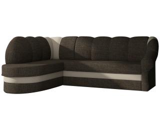 Rohová sedačka s rozkladom a úložným priestorom Belluno L - hnedá / béžová