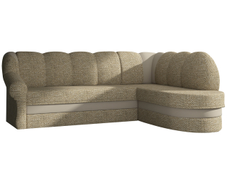 Rohová sedačka s rozkladom a úložným priestorom Belluno P - cappuccino / béžová