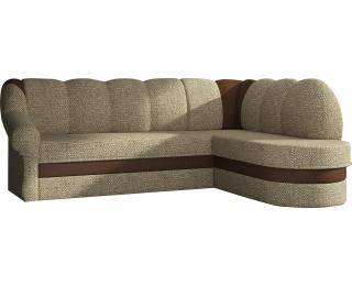 Rohová sedačka s rozkladom a úložným priestorom Belluno P - cappuccino / hnedá