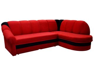 Rohová sedačka s rozkladom a úložným priestorom Belluno P - červená / čierna