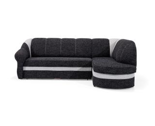 Rohová sedačka s rozkladom a úložným priestorom Belluno P - čierna / svetlosivá