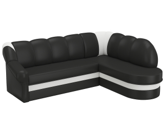 Rohová sedačka s rozkladom a úložným priestorom Belluno P - čierna (Soft 11) / biela (Soft 17)