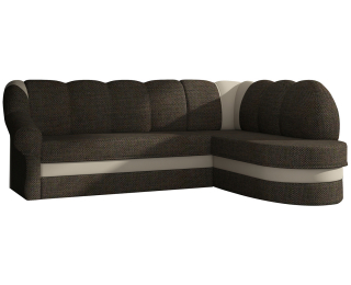 Rohová sedačka s rozkladom a úložným priestorom Belluno P - hnedá / béžová