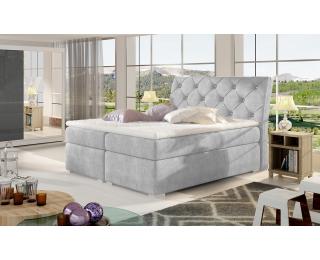 Čalúnená manželská posteľ s úložným priestorom Beneto 140 - svetlosivá (Omega 02)