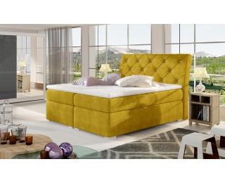 Čalúnená manželská posteľ s úložným priestorom Beneto 160 - žltá
