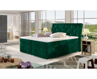 Čalúnená manželská posteľ s úložným priestorom Beneto 180 - tmavozelená