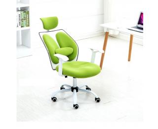 Kancelárske kreslo s podrúčkami Benno UT-C568X - zelená / biela