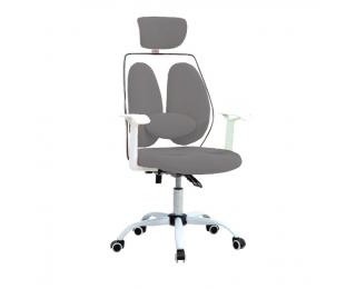 Kancelárske kreslo s podrúčkami Benno UT-C568X - sivá / biela