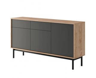 Komoda Bergen BK154 - dub jaskson hickory / grafit