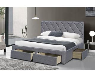 3c7d59d92446 Skladom. Čalúnená manželská posteľ s roštom Betina 160 - sivá