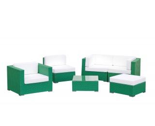 Záhradný nábytok z umelého ratanu Discreto - zelená / ecru