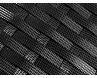 Záhradné lehátko z umelého ratanu Esigente - čierna / ecru
