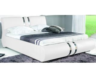Čalúnená manželská posteľ Combi 180 - biela