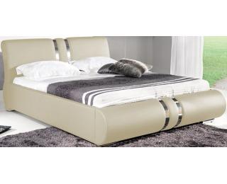 Čalúnená manželská posteľ Combi 160 - krémova
