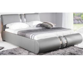 Čalúnená manželská posteľ Combi 160 - šedá