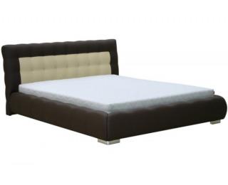 Čalúnená manželská posteľ Forrest 180 - hnedá