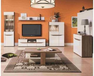Obývacia izba Lionel - dub sonoma truflový / biely vysoký lesk