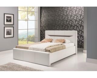 Čalúnená manželská posteľ Lionel A 160 - biela