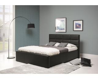 Čalúnená manželská posteľ Lionel B 160 - čierna