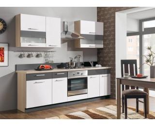 Kuchyňa Modena 240 - rijeka svetlá / biely lesk / grafit mat