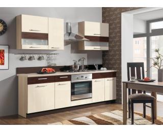 Kuchyňa Modena 240 - rijeka svetlá / jasmín lesk / eben mat