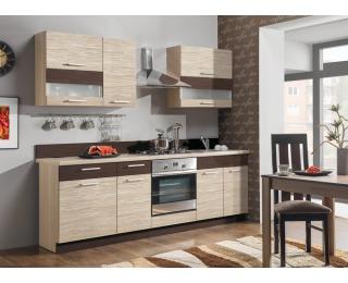 Kuchyňa Modena 240 - rijeka svetlá / morská tráva / zebrano classic